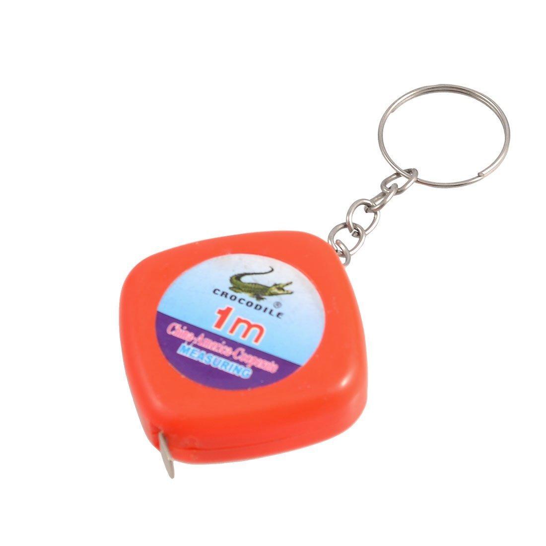 Uxcell co duỗi metric thước kẻ thước hộp công cụ trang trí vòng đeo chìa khóa, 1 m / 3.