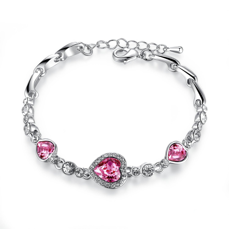 Timebetter Timebetter vòng đeo tay áo Crystal gái ngọt ngào thời trang đồ trang trí (dài kéo dài chu