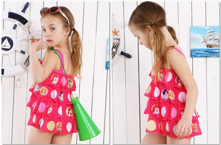 Đồ bơi bé gái màu hồng hình công chúa Disney
