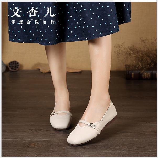 Giày da nữ thời trang Nhật Bản hè 2019 nhẹ nhàng