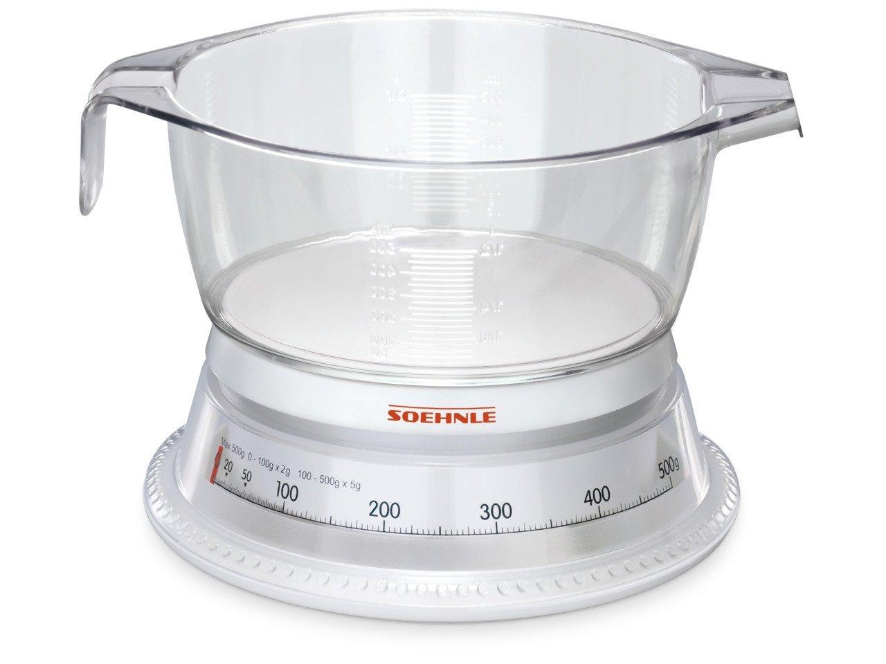 Soehnle Vario bếp cân nó gọi – trắng / kính
