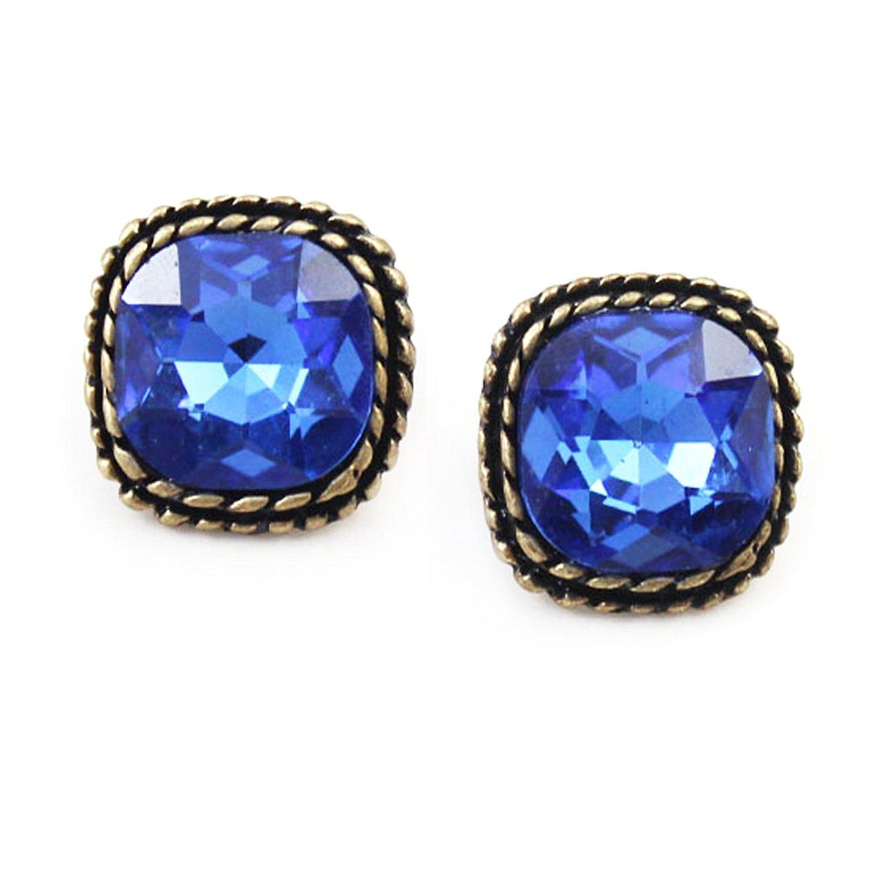 Che Bella Phương Tây cân nặng các đồ trang trí đẹp áo xanh pha lê, đồ trang sức hình vuông lớn trái