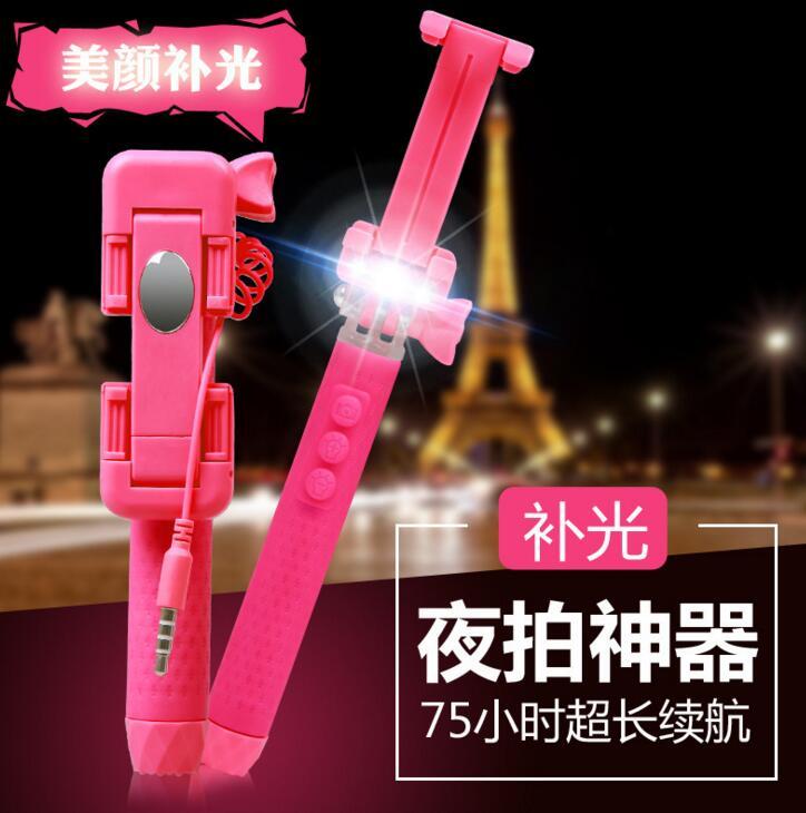 Gậy tự sướng Quà tặng chụp đèn LED sáng tạo điện thoại gậy hỗ trợ tự chụp ảnh gậy hỗ trợ tự chụp ảnh