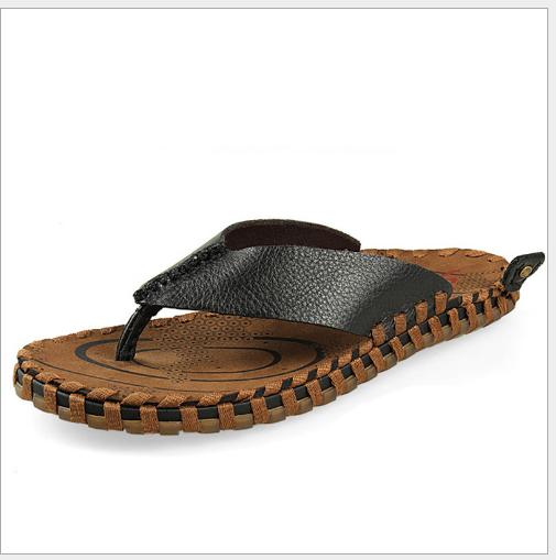 Bán buôn mới mùa hè 2016 dép da nam triều thời trang đàn ông tuoxie dép xỏ ngón chân đi dép kẹp