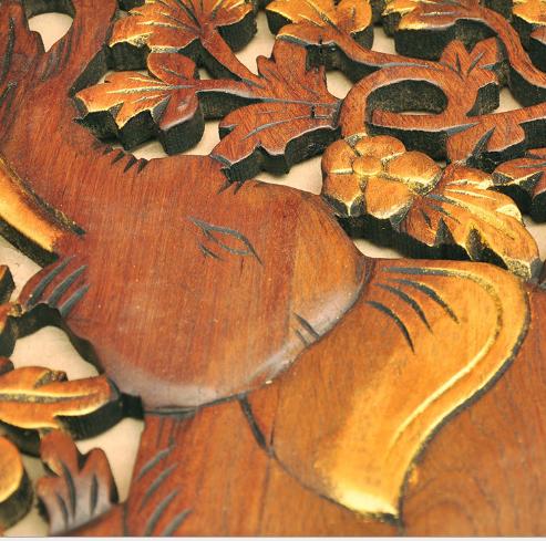 Khắc thủ công mỹ nghệ Thái Lan hàng thủ công mỹ nghệ gỗ thật đấy chạm rỗng gỗ chạm trổ, khắc, tượng