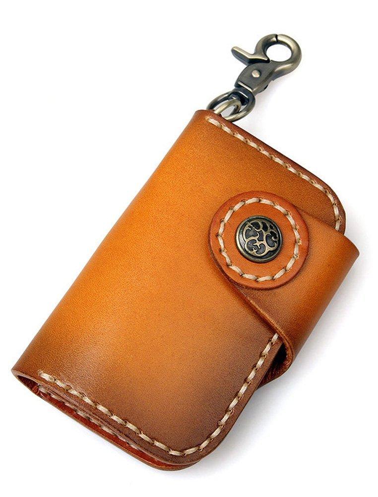 Đàn ông da đầu gói Everdoss chìa khóa lớp da móc chìa khóa xe Chìa khóa thắt lưng treo personality L