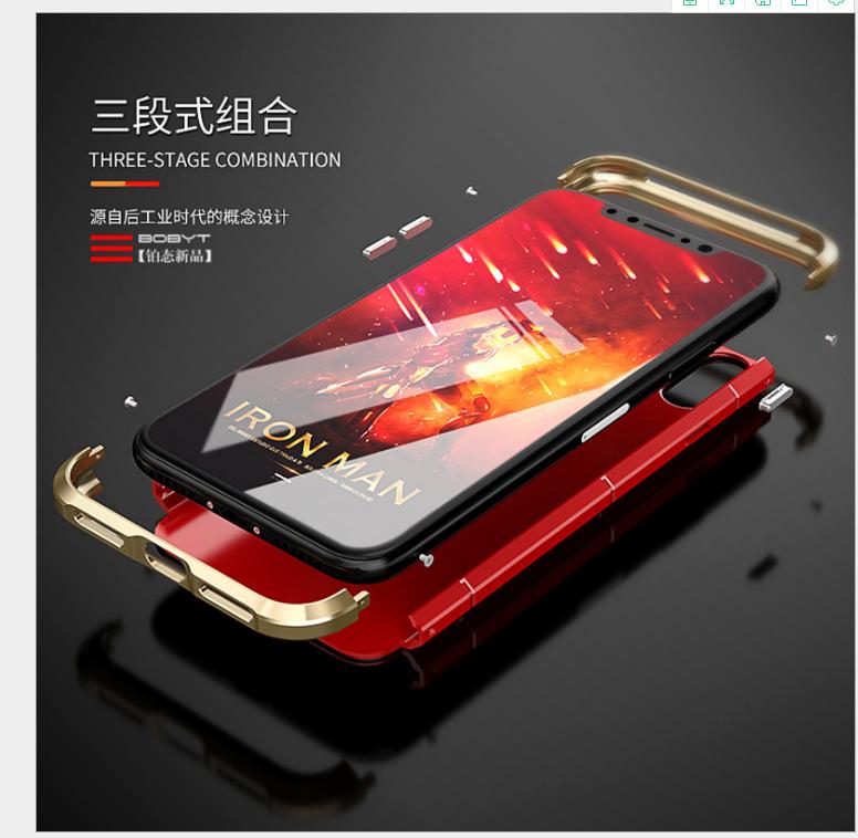 Case iPhone  Điện thoại iphonex vỏ táo bảo vệ bộ iPhone X X cartilaginea kim loại chống vỡ mới bán b