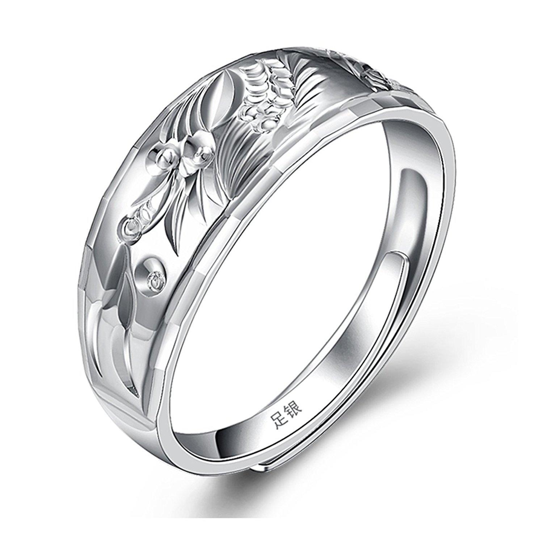 Bạc tình yêu thương của người đàn ông nhẫn bạc ròng 990 - Nhẫn Nam nhẫn trang sức thời trang.