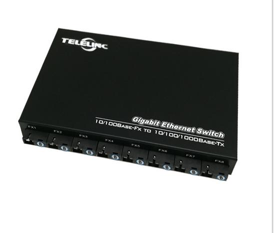 chuyển tập trung quản lý 8 sợi quang ánh sáng hai điện giao điện 100M 1000M