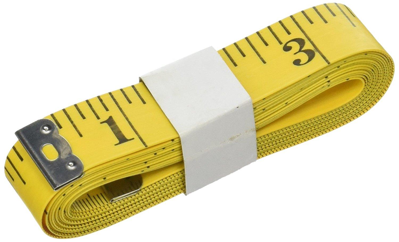 Uxcell Tailor trình độ đàn hồi các thước kẻ cơ hội, 300 cm / 16 cm, màu vàng.