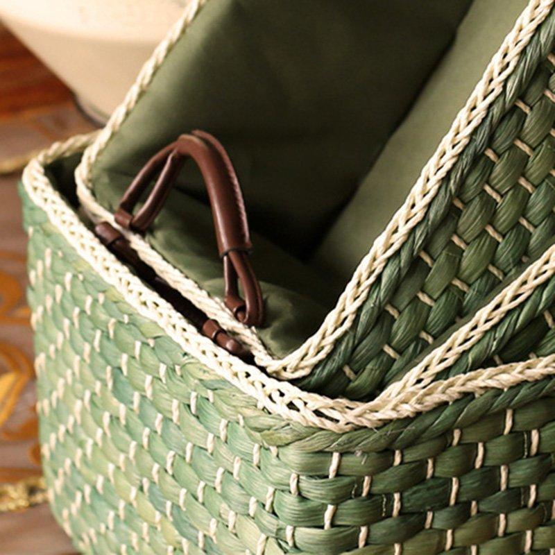Công xa trai tự nhiên lấy giỏ đan bằng tay nông thôn hàng mây tre lá ăn lấy giỏ trữ vật đồ chơi xếp