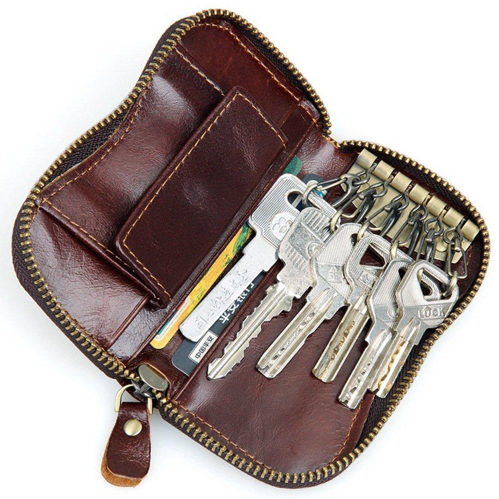 Đàn ông da túi xách túi tiền xu Everdoss chìa khóa dài khoản thời cổ điển một cách thoải mái chìa kh