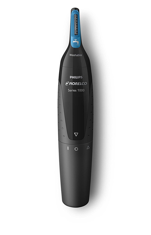 Philips Norelco lỗ mũi cắt khí 1500, nt1500 / 49, đưa 3 điều áp dụng vào mũi, tai và lông mày