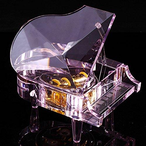 Lạnh âm 18 tone màu hồng pha lê Piano Music Box trên bầu trời thành phố của hộp nhạc đưa bạn gái sán