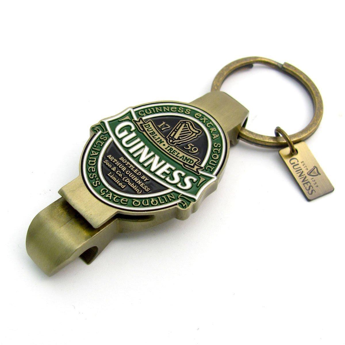 Guinness St James Gate Label Bottle Opener Key Ring