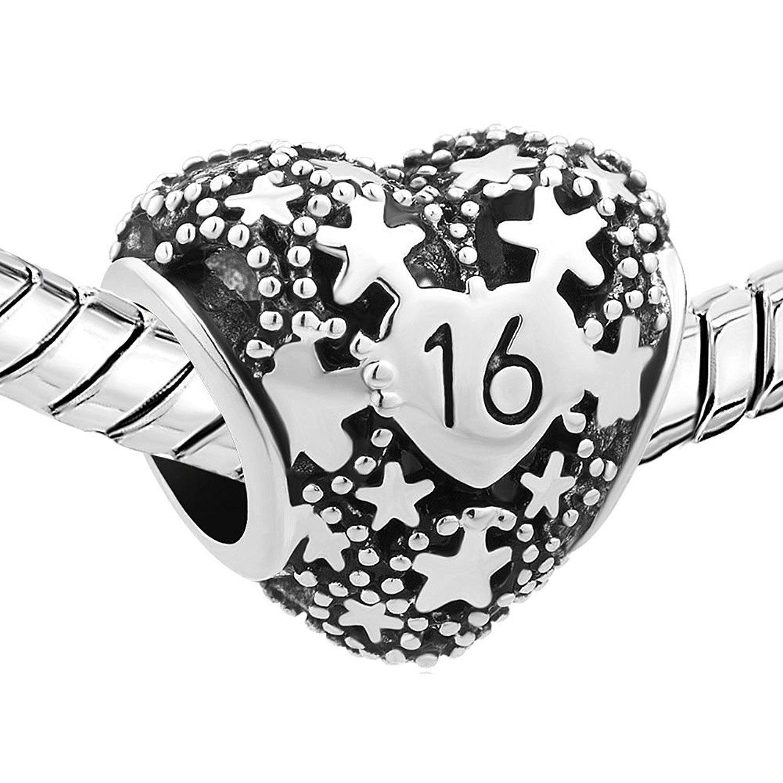 Sợi kim tuyến Luckyjewelry rũ. Luckyjewelry ngôi sao bạc, vàng, lụa hình trái tim ngọt hạt trang sức