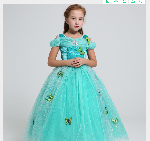 Váy 7021 váy công chúa Jasmine.