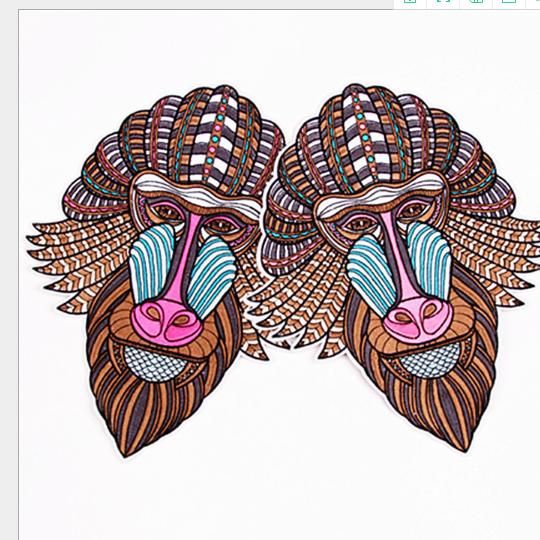 phù hiệu vải  Thêu dệt vải bọc vải dán hoạt hình con khỉ mặt vải dán dán miếng vá quần áo quần áo lớ