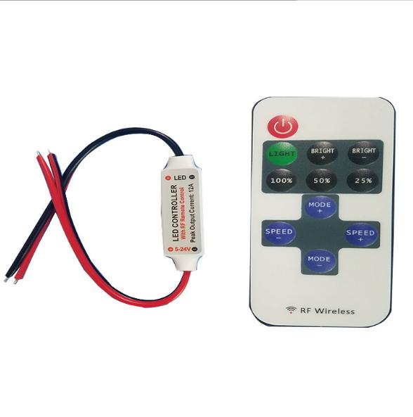 11 phím điều khiển đèn đường nhựa đường dẫn 12-24V RGB đèn ánh đèn màu sáng, thiết bị điều khiển LED