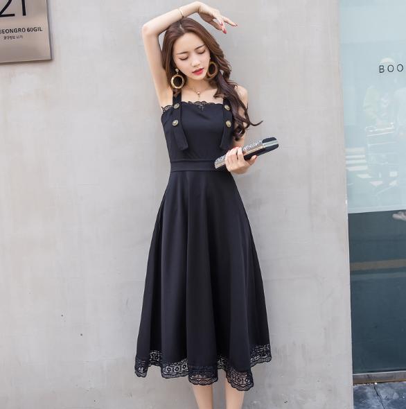 Đầm vintage đen thời trang