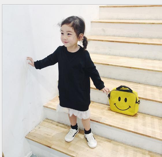 Váy Chiếc áo dài mùa xuân mới 2018 trẻ em nữ Baby sự kéo dài khoản đánh sợi váy một