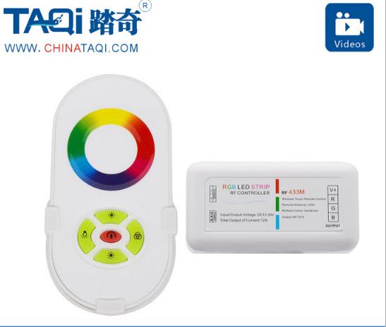 Đèn LED với bộ điều khiển điều khiển từ xa RGB Colorful RF chạm vào bộ điều khiển đèn chỉnh ánh sáng