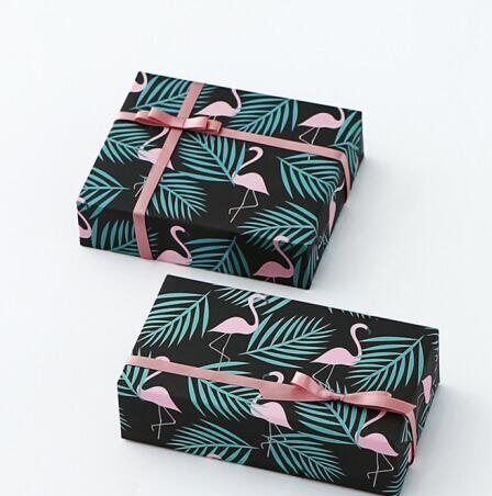 Trí chuyển gói quà tặng giấy hồng hạc giấy thủ công DIY tropical rainforest giấy gói quà lưu niệm gi