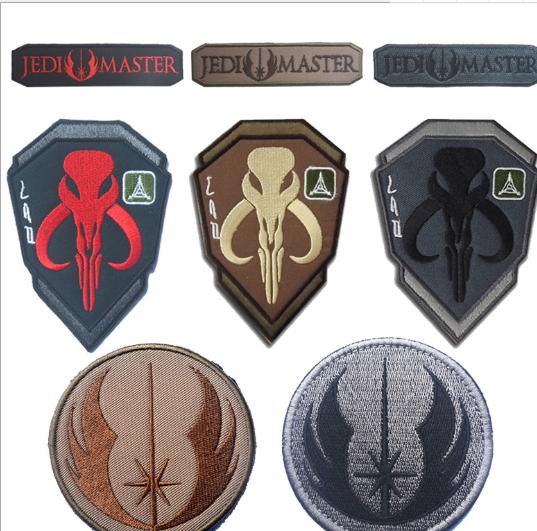 Khóa dán Star Wars của Jedi thêu thùa, ảo thuật, vải dán băng dính TAD thợ săn tiền thưởng