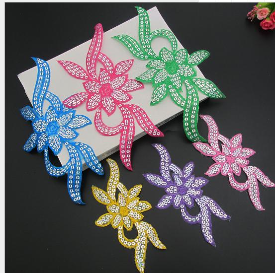phù hiệu vải  Giá rẻ hơn và cung cấp trang phục thêu dệt vải hoa đăng - Sequins vá lỗ vải thêu thùa