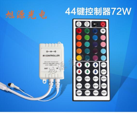 12vled 3528 44 phím điều khiển đèn màu RGB versicolor là một 5050 đèn mang thiết bị điều khiển mặt t