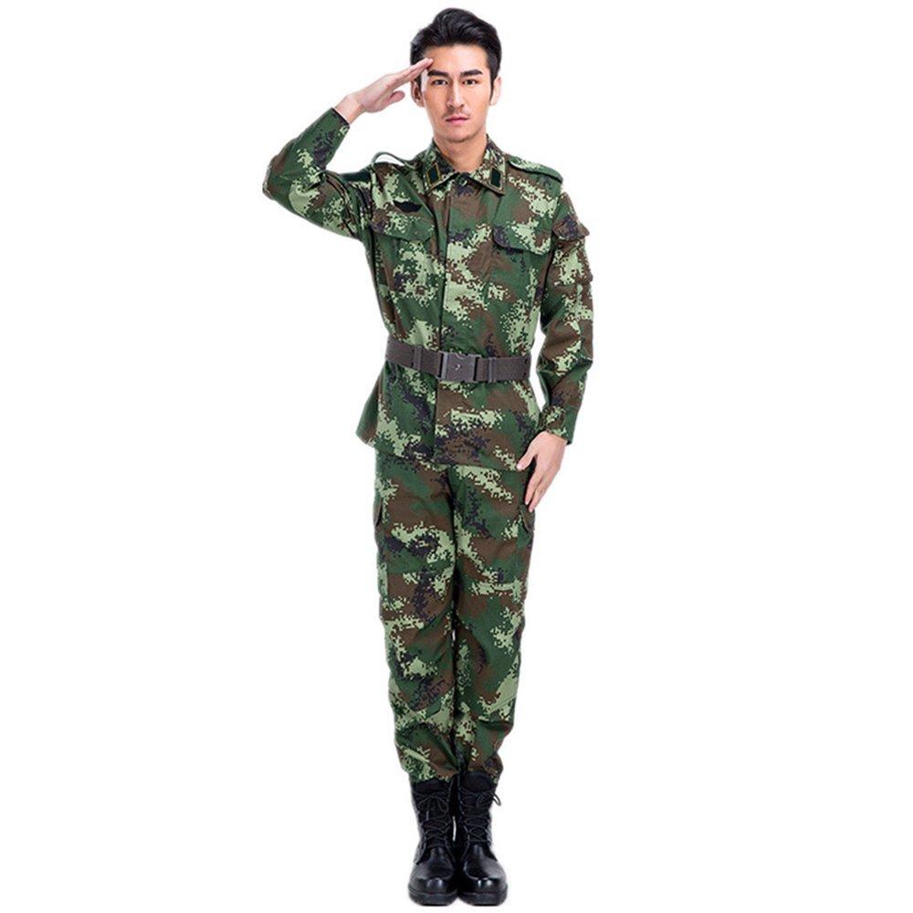 Thời trang lính xanh lá rằn ri đào tạo quân đội