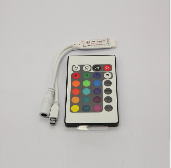 Bán buôn 24 phím mini IR chỉnh ánh sáng màu hồng ngoại khi điều khiển được bật lên thiết bị điều khi