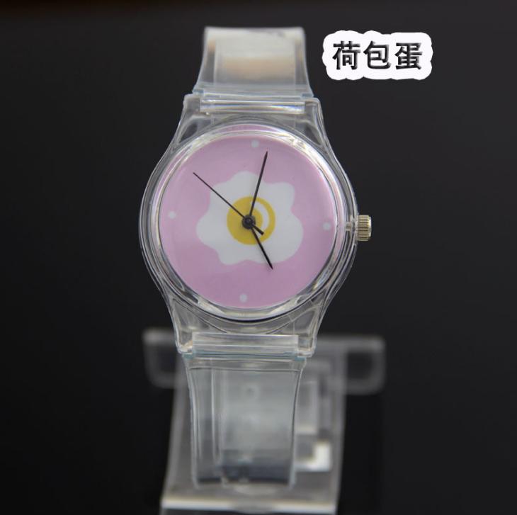 Đồng hồ bán buôn Hồ Quý Thạch anh bảng đồng hồ mới mẻ trong suốt nhựa nhỏ chút ống nhựa ko đồng hồ n