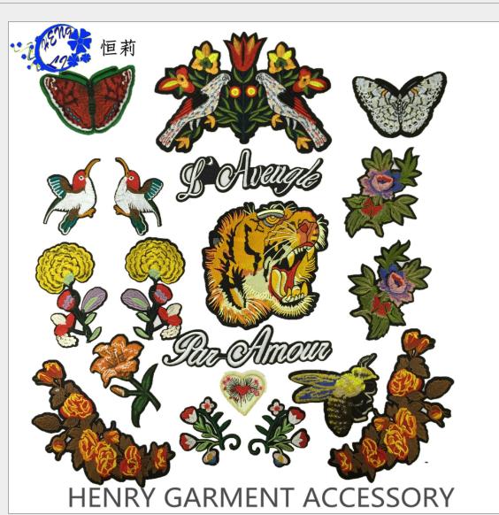 phù hiệu vải  Thời trang trong trang phục vải dán một miếng vá thêu trang trí hoa tiêu chuẩn cao bồi