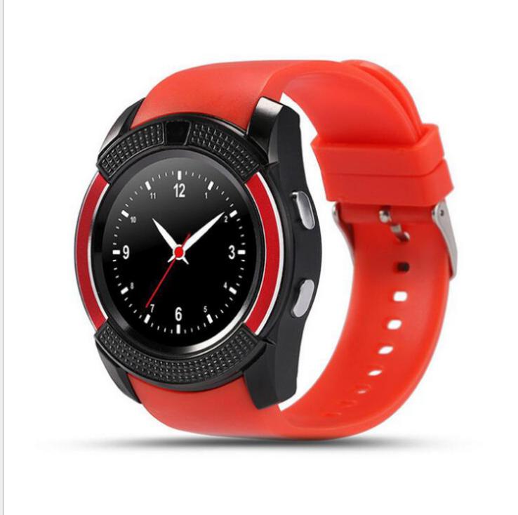 Tròn mới V8, màn hình đồng hồ thông minh lớn, các nhà sản xuất đồng hồ điện thoại thời trang Bluetoo