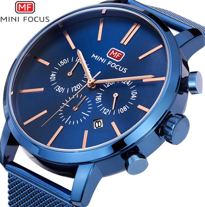 MINI FOCUS bán nó Wish Amazon giản lược nhiều chức năng đưa đồng hồ MF0023G lưới thép
