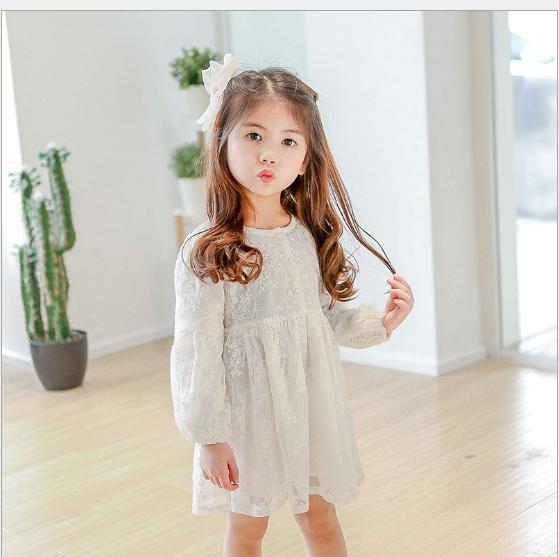 Váy Đồng tiền của 2018 Xuân Tiên mặc áo quần áo trẻ em trẻ em? váy váy áo tay dài... công chúa?