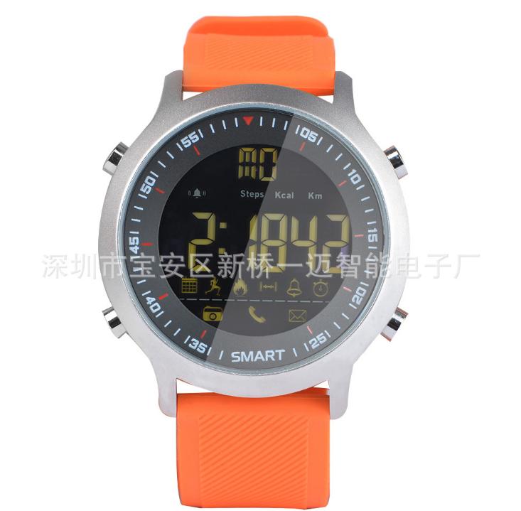 EX18 đồng hồ thông minh, sâu thấm nước IP67 chờ thời cơ vận động dài vòng đồng hồ điện tử kế bước QQ