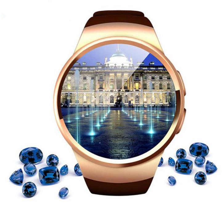 KW18 đồng hồ thông minh có thể cắm hoạt hình tròn. Mặt đồng hồ thông minh thiết bị đeo Bluetooth