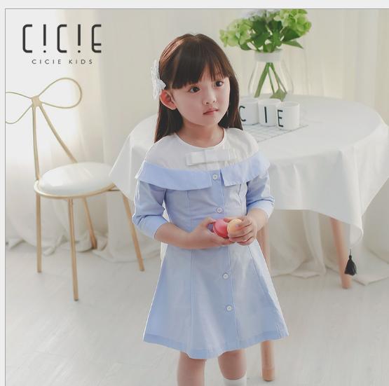 Váy 2018 mùa xuân mới thương hiệu quần áo trẻ em gái đồng váy một thế hệ trẻ em mặc áo dài tay là co