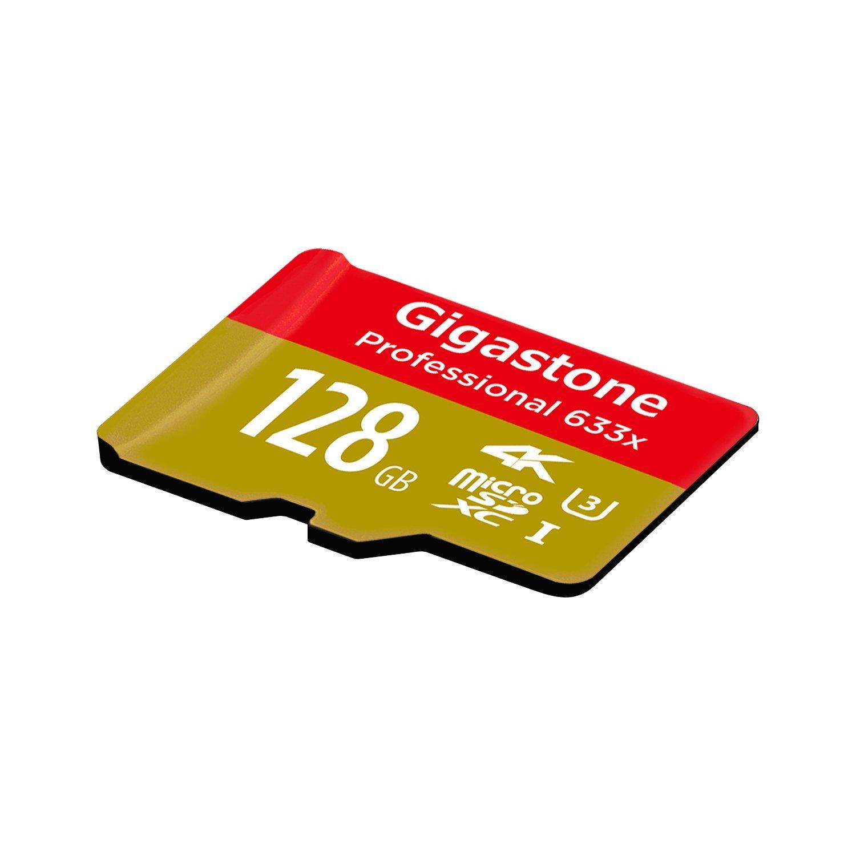 Gigastone GS 2in633 R * 64 GB và hỗ trợ thẻ nhớ SD. 64 GB thẻ của 4 U3 + K cao đạt 95 Mb / s Memory
