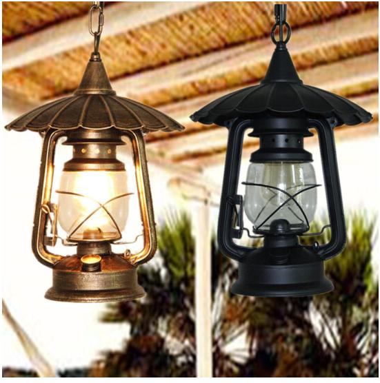 Hoài cổ điển Mỹ đèn chùm đèn dầu cũ công nghiệp hành lang lối đi bên ngoài ban công sân thấm nước đè