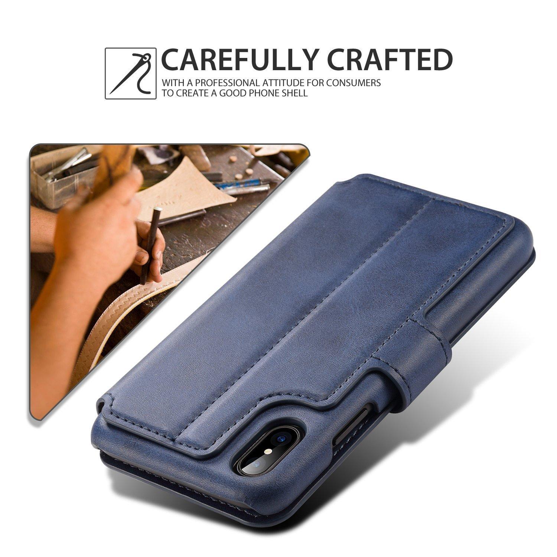 Aiomao ví điện thoại iPhone và iPhone vỏ aiomao Vintage sửa chữa bảo vệ bộ mang chức năng hỗ trợ thẻ
