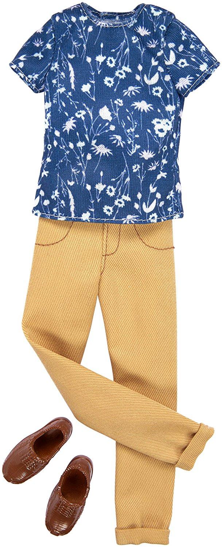 Barbie KEN & TAN quần áo xanh tem