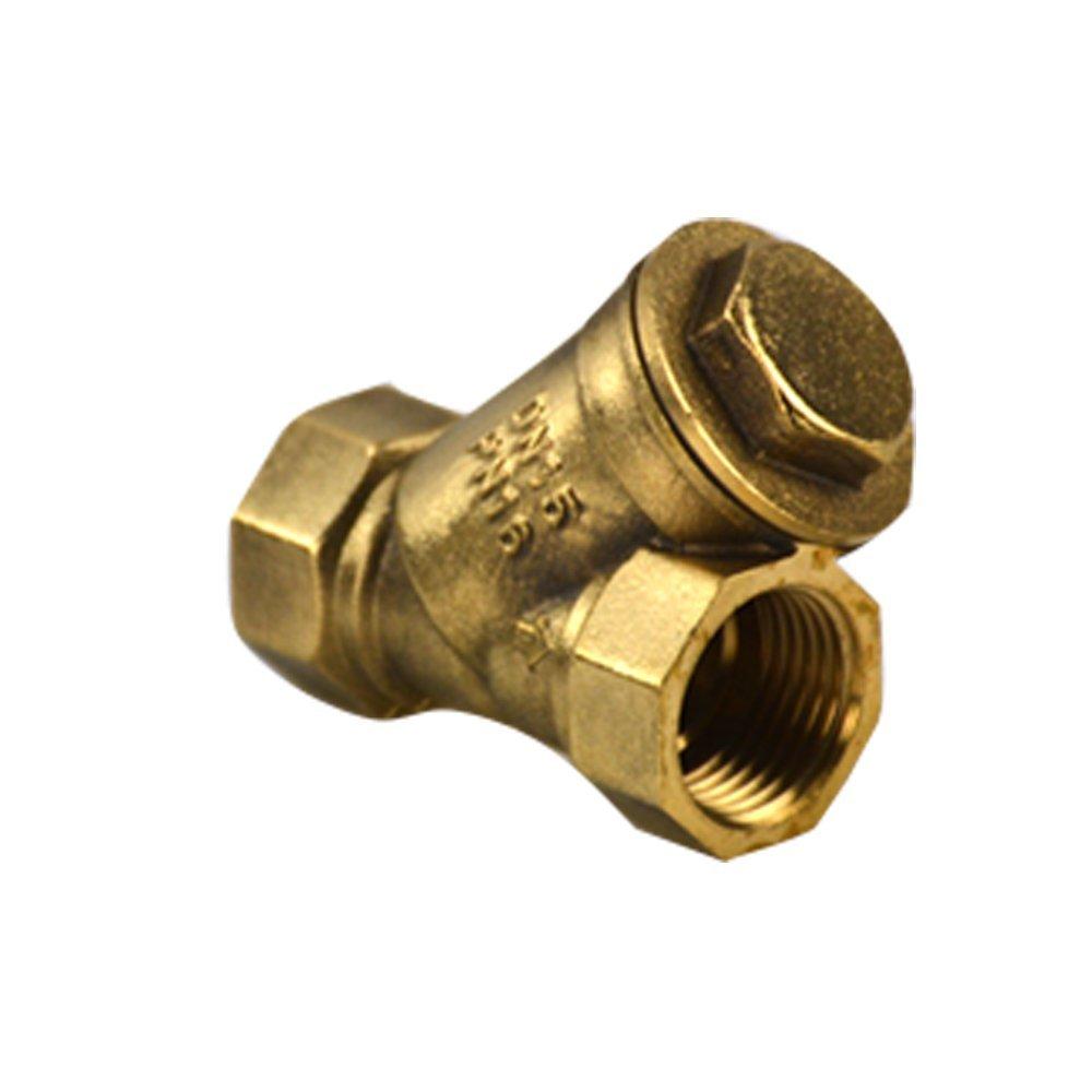 Chính phẩm kim loại, phụ kiện DN15 loại máy bơm nước Y - 4 phần Van lọc, bộ lọc đồng thau Shell Prem