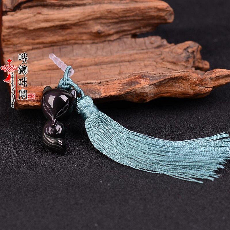 Tinh thể tự nhiên - yeon trang sức đá núi lửa chống bụi cắm tai nghe nhét điện thoại dây chuyền đồ t