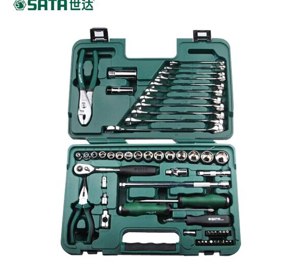 SATA Toolbox 56 bộ quần áo Ratchet ổ cắm cờ lê kết hợp công cụ điều sửa đi sửa xe hơi bảo 56 cửa hàn
