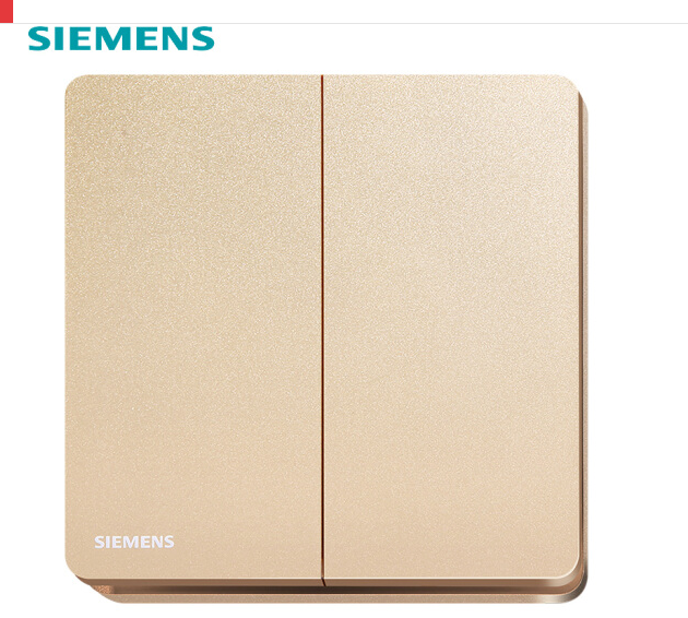 Siemens (SIEMENS) chuyển đổi ổ cắm bảng điều khiển 10A ổ cắm điện Duệ gây series Minh Hồng vàng năm