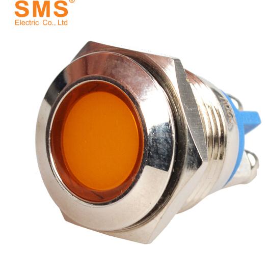 (SMS) 16MM kim loại dẫn ánh sáng đèn báo tín hiệu đèn chỉ thị thiết bị đèn đỏ, vàng xanh vàng trắng