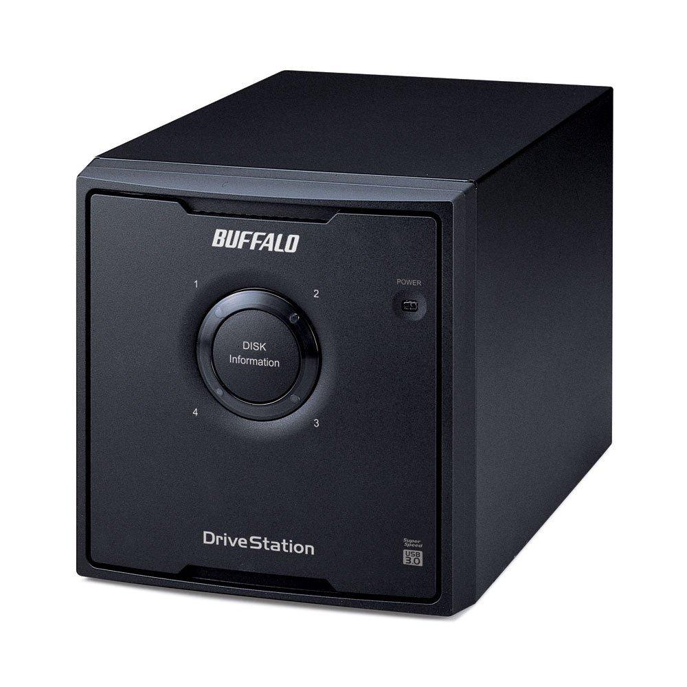 BUFFALO DriveStation Quad 8 TB High Performance RAID Array with Optimized Hard Drives (HD-QH8TU3R5)